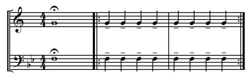 Legato Quarter Notes