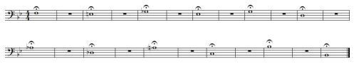 Long tones bass clef